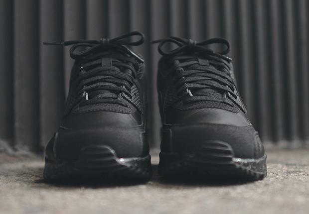 schwarze air max leder