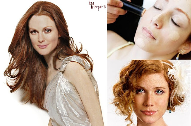 Maquiagem para pele de Noivas ruivas