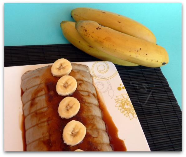 Una Fiera en mi cocina: Flan rápido de plátano..¡Y sin horno!