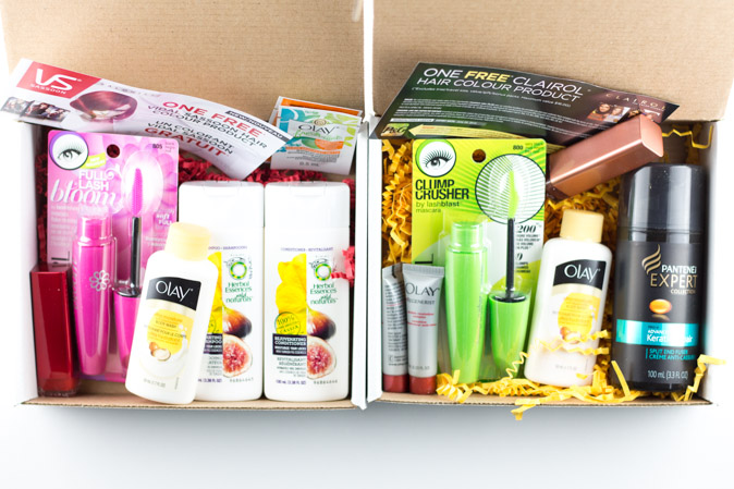 flare beauty box classic and fearless partnered with p&g and topbox review