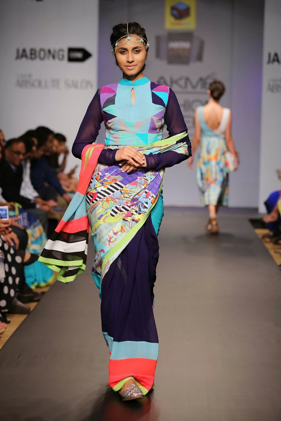 Fun and offbeat, the collection titled 'Quirk-E-Sultanat' aimed at being feminine-funky with city-chic elements with a dash of experimental thrown in. The designers worked with softly structured silhouettes so as to balance out the bold and fun prints and comprised skirts, tunics, rompers, boyfriend jackets, tops, dresses, saris, lehengas and blazers.