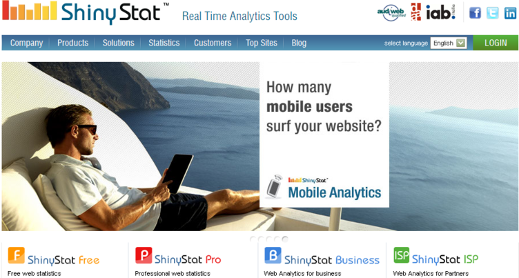 Shinystat Web Analytics tool