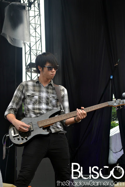 Busco's guitarist performing at Rockaway Festival 2011
