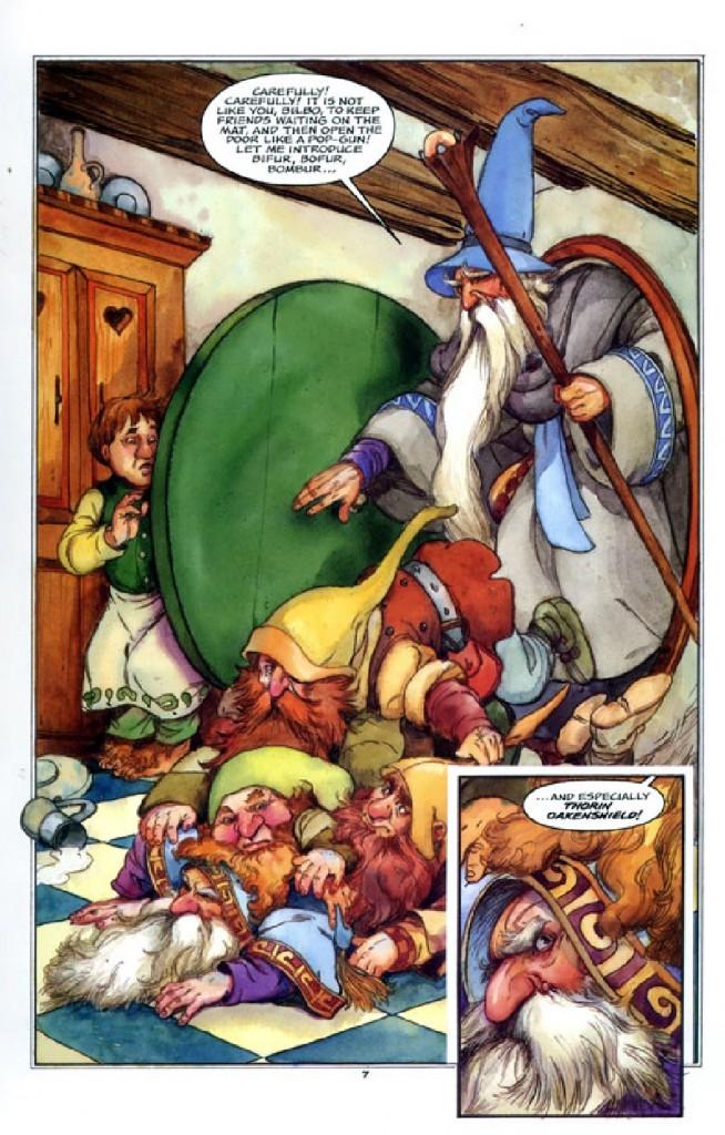 l  Hobbit: Historia de una ida y una vuelta por Chuck Dixon y David Wenzel pag 4
