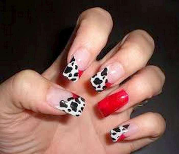Imágenes con lindos diseños de uñas decoradas en color rojo
