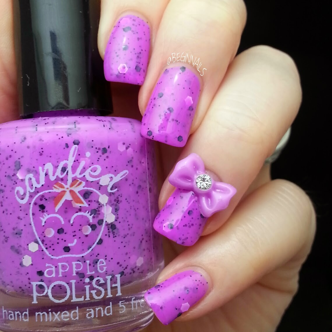 Let\'s Begin Nails: Candied Apple Polish Swatch and Review