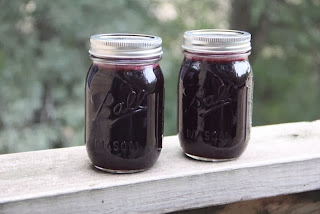 photo of jars of chokeberry jelly