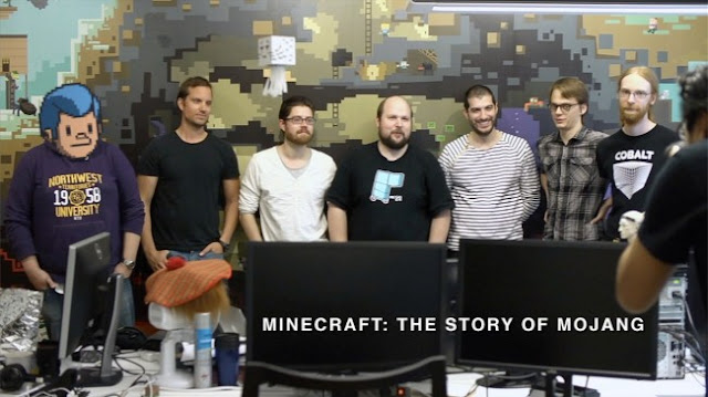 The Mojang Minecraft team photograph