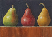 ACEO Three Pears In A Row