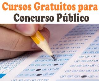 Cursos Gratuitos para Concurso Público