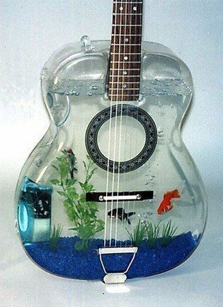 ... | Funny Pics | Just For FUN | A World Of FUN: Cool Guitar Fish Tank Unique Fish Tank Decorations