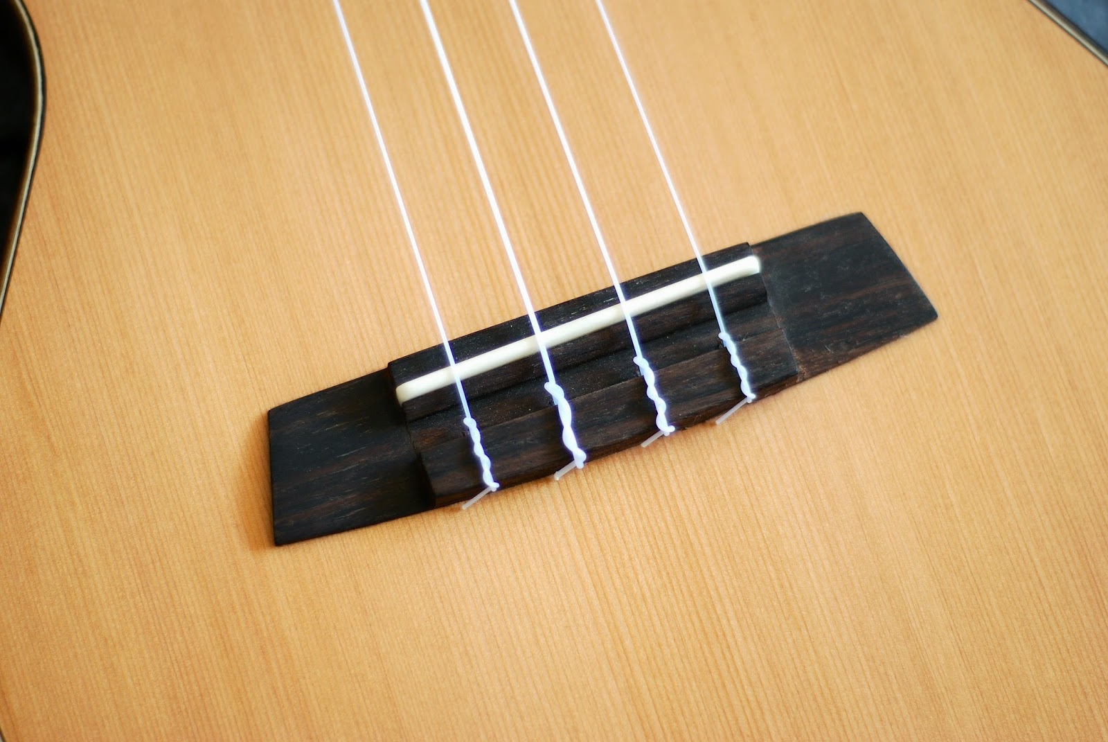 Kremona Coco Tenor Ukulele bridge