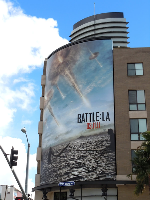Battle LA surfers movie billboard
