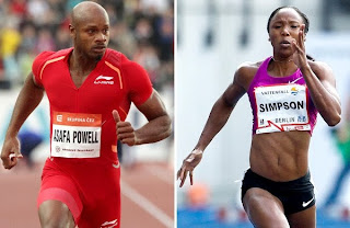 Tyson Gay, Asafa Powell, Sherone Simpson, banned substances, steroids