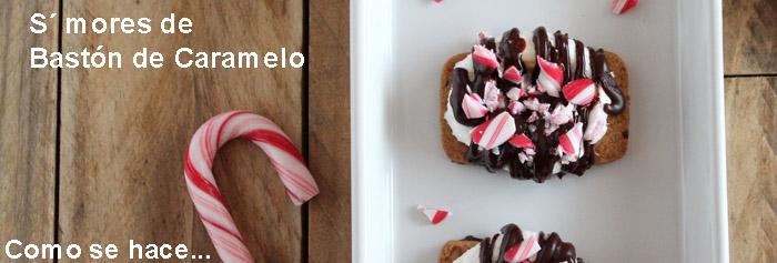 Recorte de una fotografía en el que se ve medio bastón de caramelo y una porción de galleta, vista desde arriba.