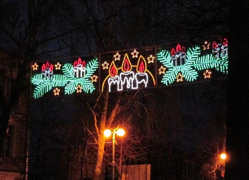 Украшение города на Новый год