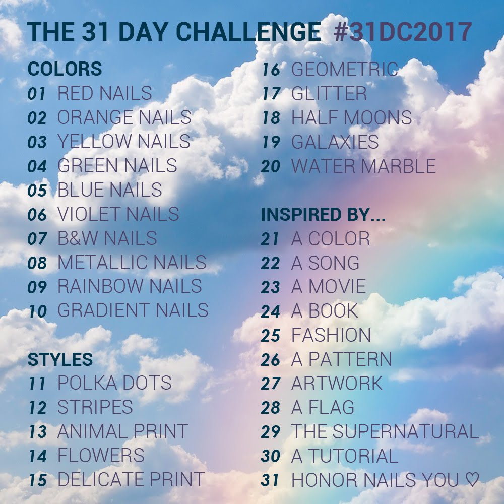 31 Day Challenge 2017