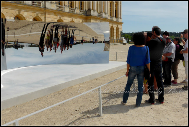 Anish Kapoor mirror Versailles palace