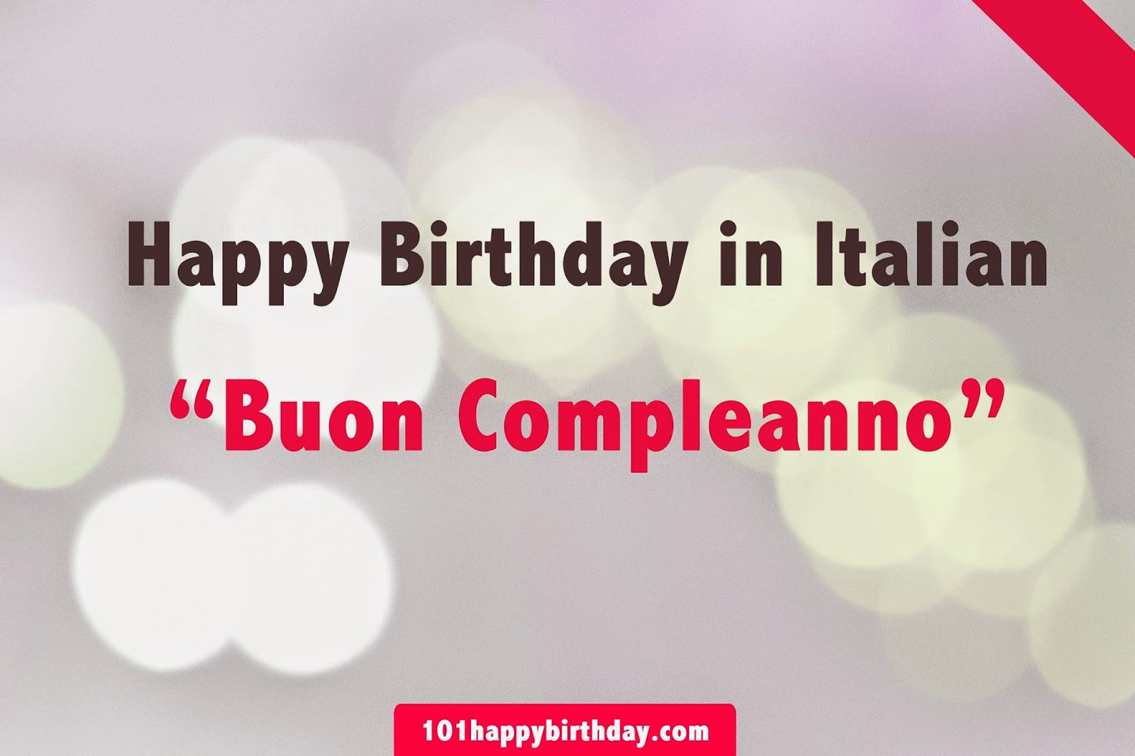 happy birthday in italian song