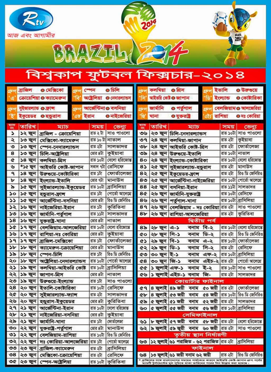 Most Inspiring Fixture Bd Time World Cup 2018 - FIFA-World-Cup-2014-Fixtures-Schedule-in-Bangladesh-Time1  Snapshot_971789 .jpg