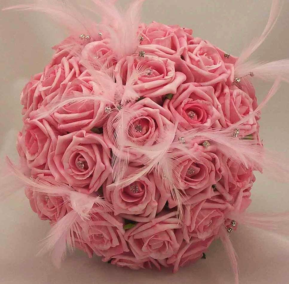 Pink Winter Wedding Flower Decoration Design Ideas Images hd