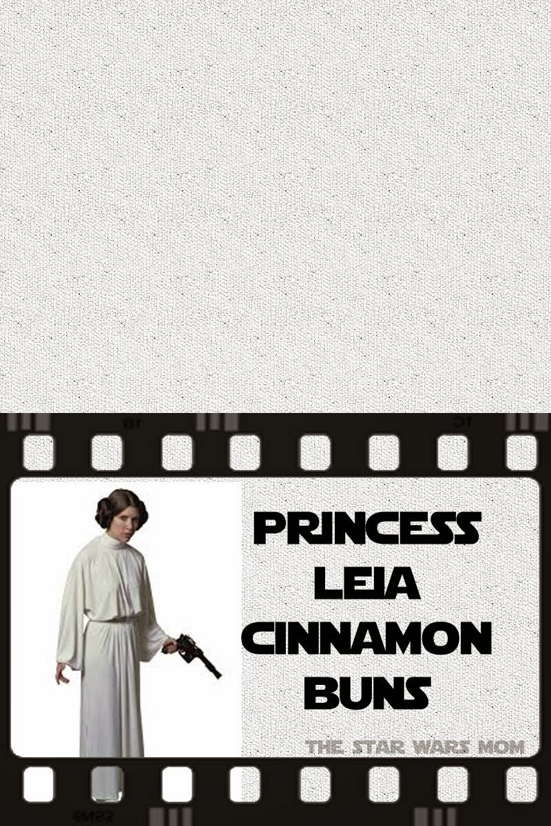 Star Wars Party Food Label or Sign - Princess Leia Cinnamon Buns