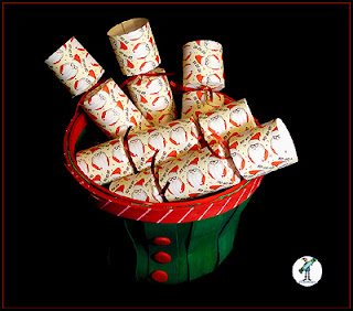 Christmas crackers with chocolate - Ho Ho Ho Santas