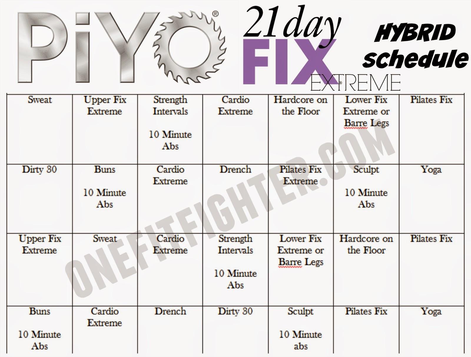 piyo 21 day fix hybrid, 21 day fix piyo hybrid, piyo hybrid