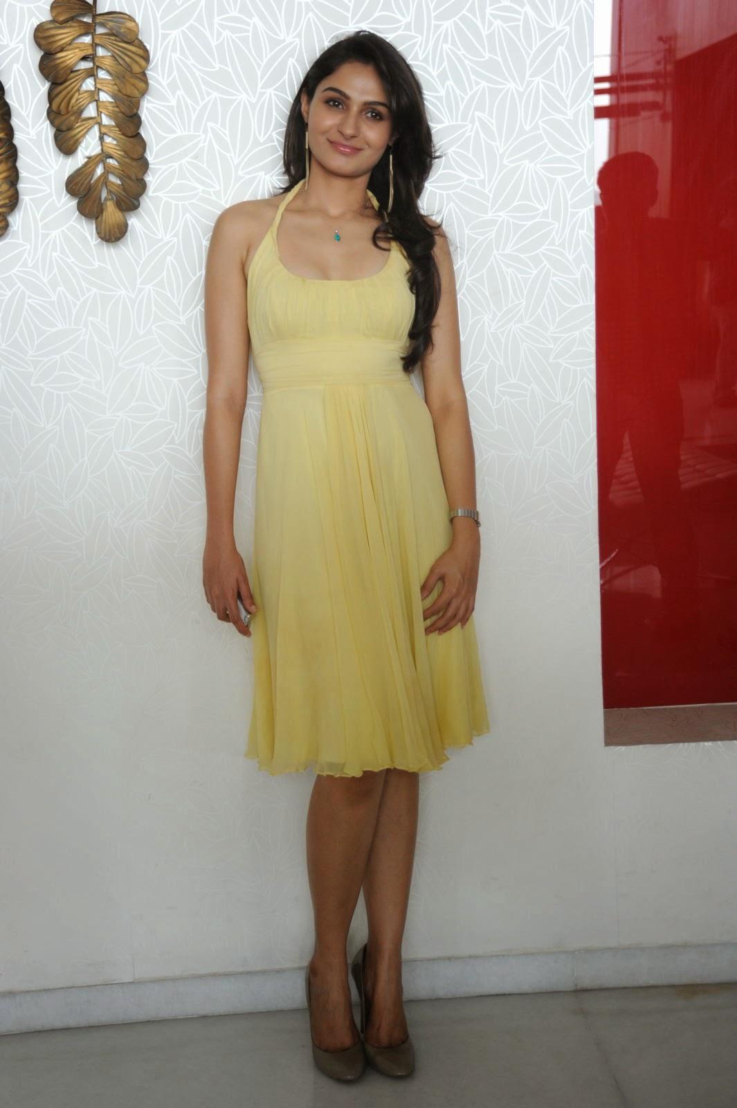 Andrea Jeremiah Hot Yellow Dress Photoshoot | Andrea Jeremiah Images ...