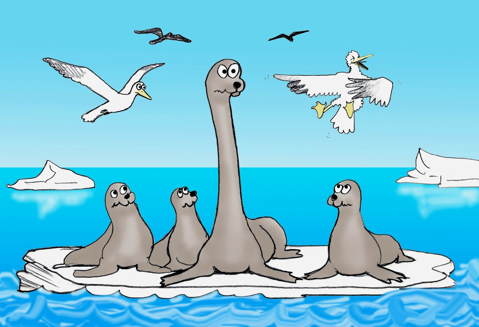 Shukernature The Long Necked Seal In Cryptozoology Part 2 From Skeleton Sea Lion Diagram Harbor Swan And Hidden To Tizheruk Nessie