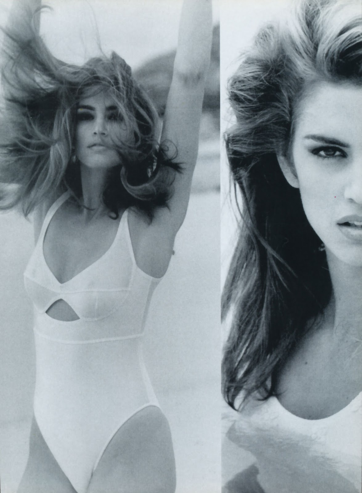 Cindy Crawford in Pure & healthy | Vogue Italia July 1991 (photography: Marco Glaviano)