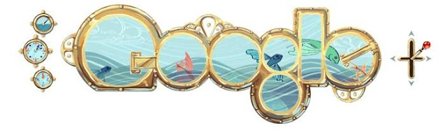 Jules Verne's 183rd Birthday doodle
