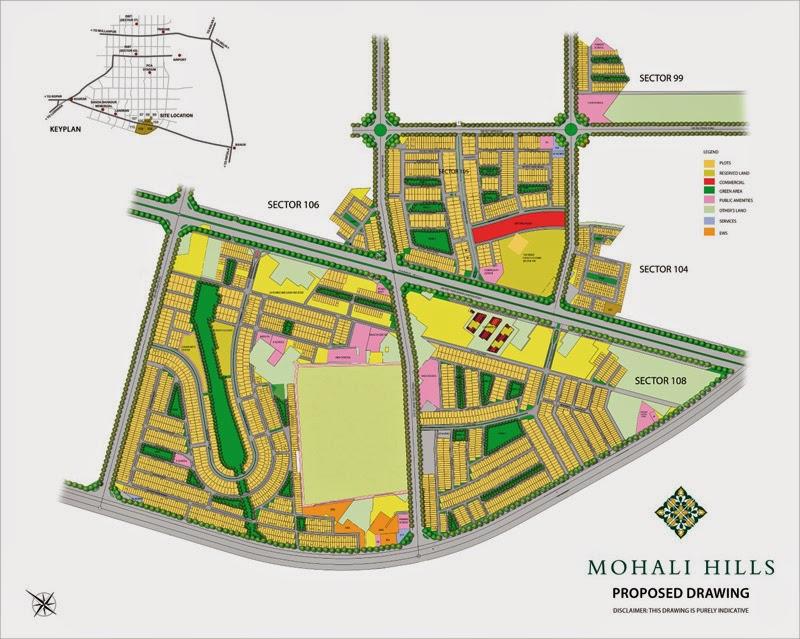 Emaar MGF Mohali Hills, Mohali Sector 99, 104, 105, 106, 108 plots