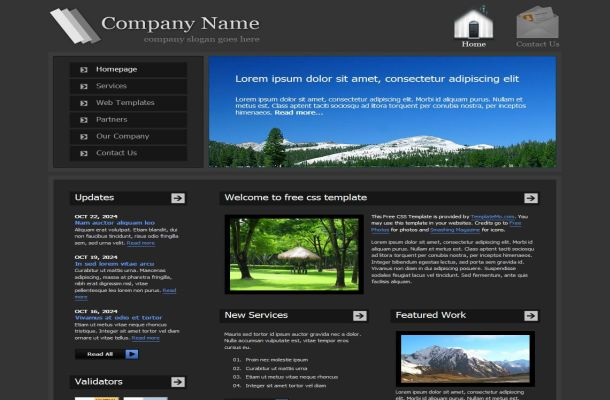Dark Black Jquery Business CSS Website Template