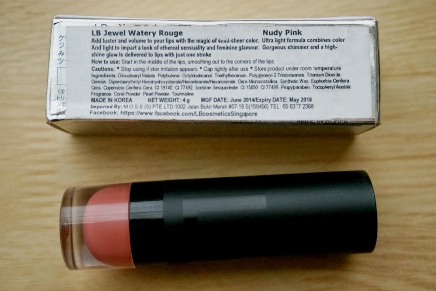 LB Cosmetics Jewel Watery Rouge in Nudy Pink
