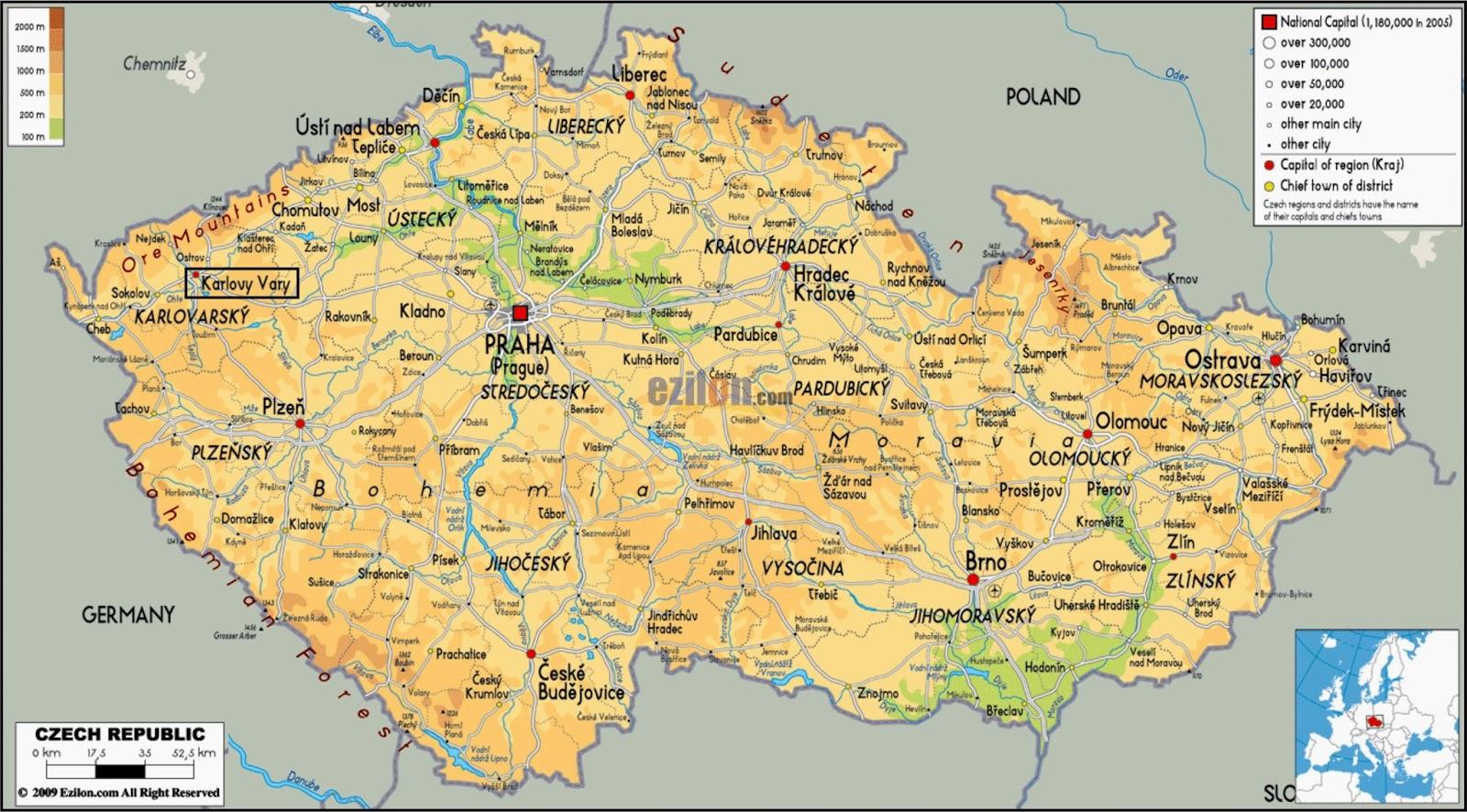 Repblica Checa  Mapa Satelital