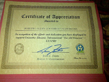 Certificate of Appreciation