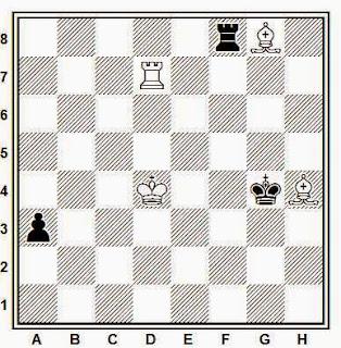 Estudio artístico de ajedrez compuesto por D. F. Petrov (Memorial M.I. Chigorin 1958-59)