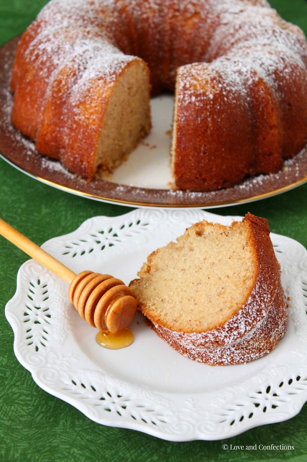 Love and Confections: Honey Almond Bundt Cake