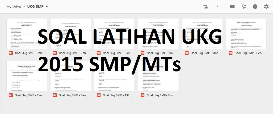 Kumpulan Soal Latihan Ukg 2015 Smp Mts Format Guru