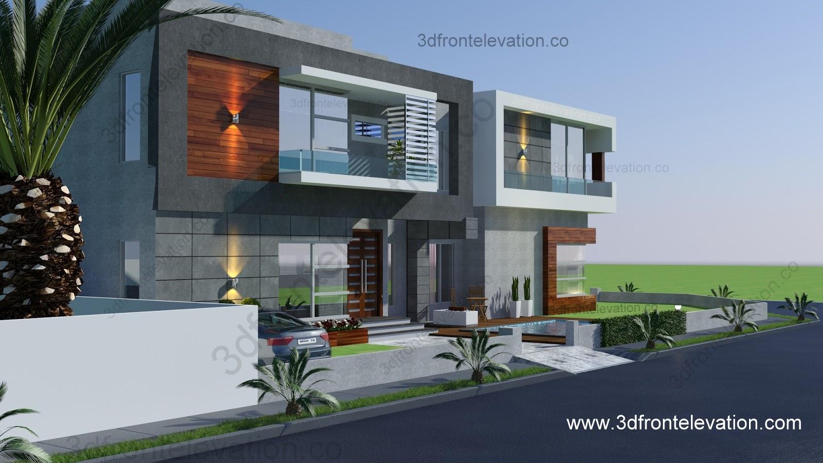 Front Elevation Corner : D front elevation m² corner فيلا جميلة للبيع في