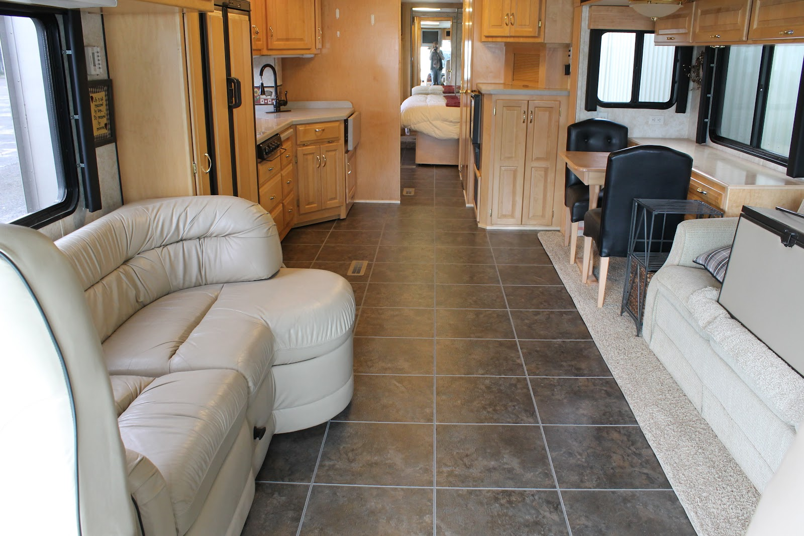 Countryside interiors transforming rvs and trailers since the 80s entryway on 04 dutch star new nafco tile and metal trim dailygadgetfo Choice Image