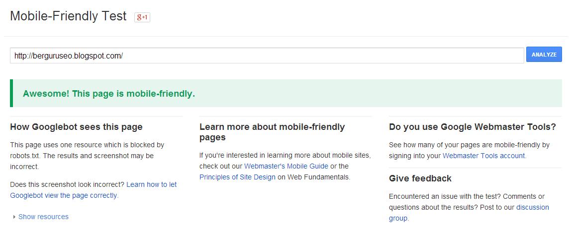 Melalui Official Google Webmaster Central Blog secara resmi Google mengumumkan bahwa mere Algoritma Google Mobilegeddon Resmi Diluncurkan