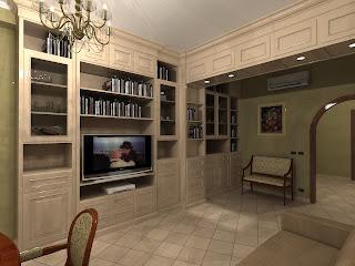 Arredamentincasa: Arredamento su misura - Mobile soggiorno-libreria