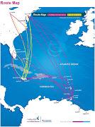 Air Jamaica logo. ICAO code : BW IATA code : BWA (air jamaica routes map)
