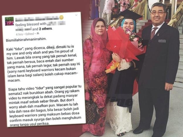 """Luahan Anak Bongsu Ahmad Bashah – Gara-Gara  Video """"tidur"""" Ahmad Bashah"""