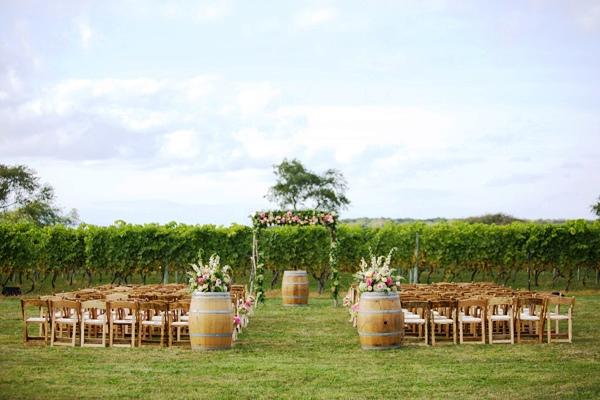 sofisticada boda en un viñedo