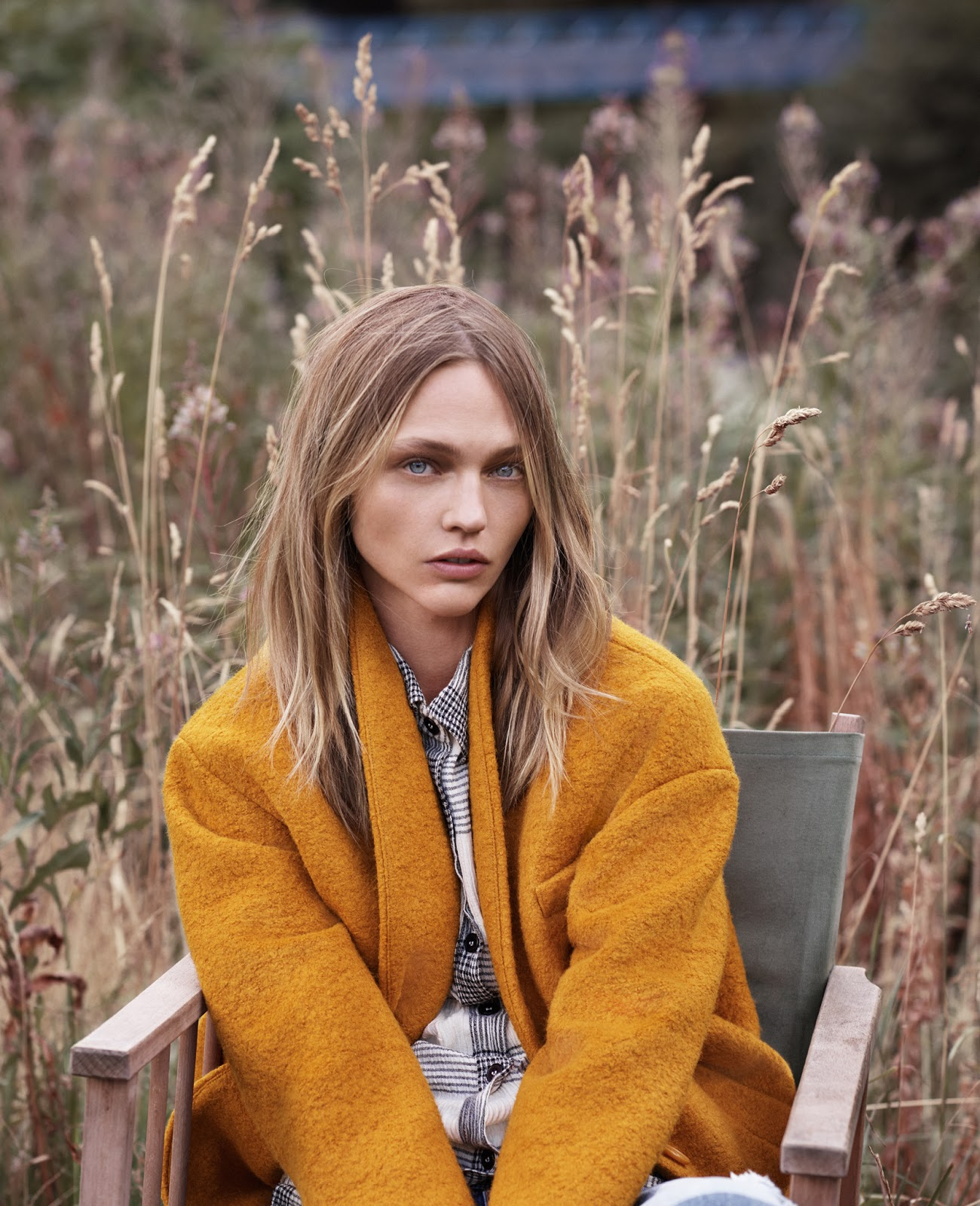 Sasha Pivovarova in Natural State / Mango FW 2015 Edit