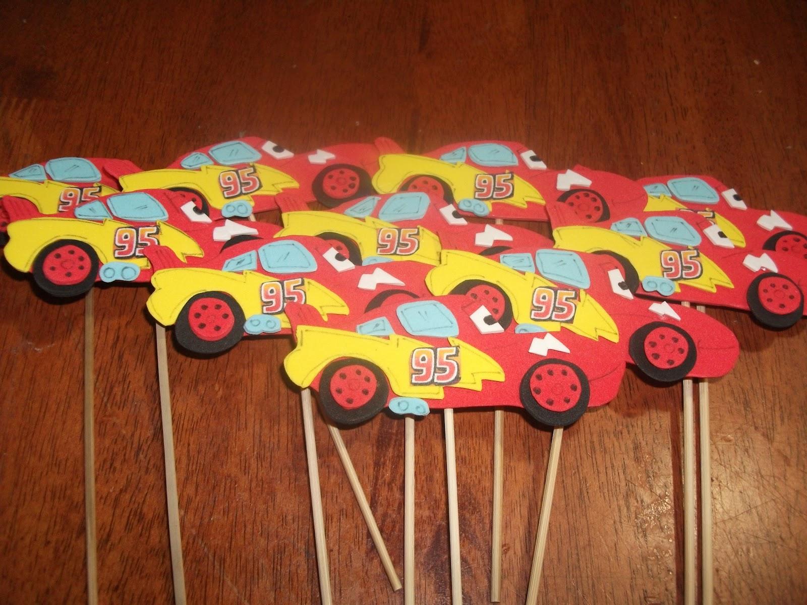 para Torta y Souvenirs para Cumpleaños: Cars y Princesa fofucha
