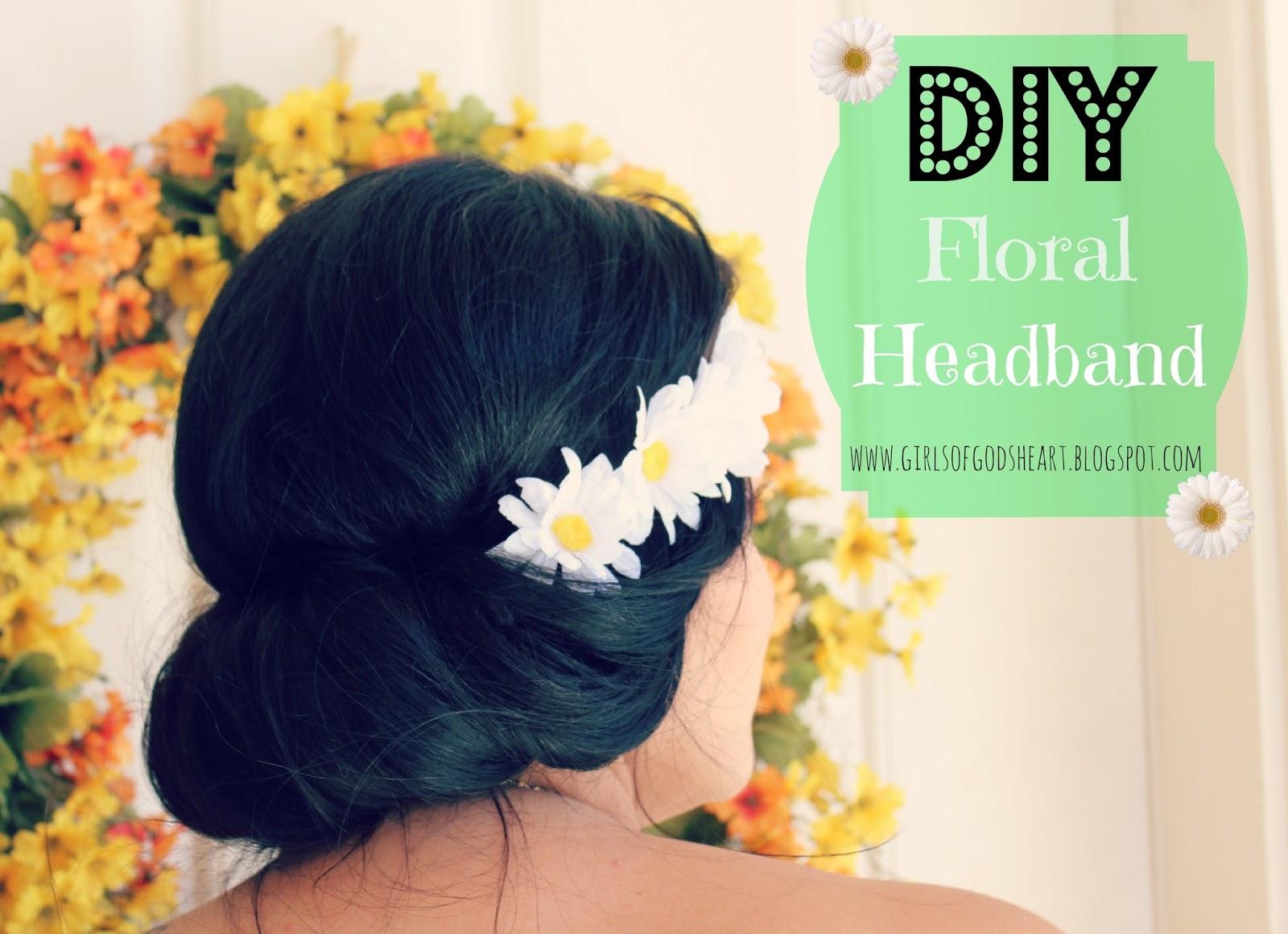 Girls Of Gods Heart Diy Floral Headbandon The Cheap